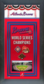 Atlanta Braves Framed Championship Banner