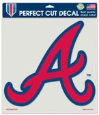 """Atlanta Braves Die-Cut Decal - 8""""x8"""" Color"""
