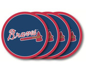 Atlanta Braves Coaster Set - 4 Pack