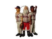 Atlanta Braves Team Celebration Santa Ornament