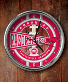 Arkansas Razorbacks Chrome Clock