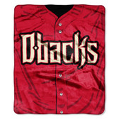 "Arizona Diamondbacks 50""x60"" Royal Plush Raschel Throw Blanket - Jersey Design"