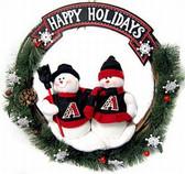 "Arizona Diamondbacks 20"" Team Snowman Wreath"