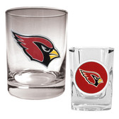Arizona Cardinals Rocks Glass & Shot Glass Set
