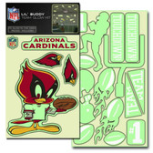 Arizona Cardinals Lil' Buddy Glow In The Dark Decal Kit