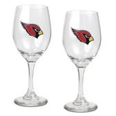 Arizona Cardinals 2pc Wine Glass Set
