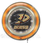 Anaheim Ducks Neon Clock
