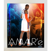 Amare Stoudemire knicks Team Colors Composite Framed 11x14 Collage