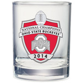 Ohio State Buckeyes 2014 National Champions Double Old Fashion Glass