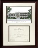 Xavier University, Louisiana Scholar Framed Lithograph with Diploma