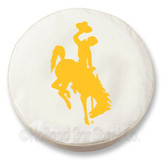 Wyoming Cowboys White Tire Cover, Large