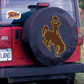 Wyoming Cowboys Black Tire Cover, Large