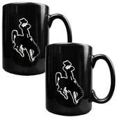 Wyoming Cowboys 2pc Coffee Mug Set