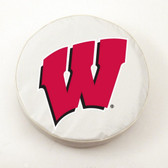 Wisconsin Badgers White Tire Cover, Large TCWTWisconWLG