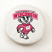 Wisconsin Badgers White Tire Cover, Large