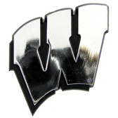 Wisconsin Badgers Silver Auto Emblem