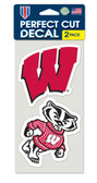 Wisconsin Badgers Set of 2 Die Cut Decals