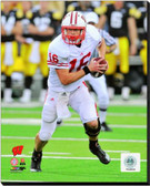 Wisconsin Badgers Scott Tolzien 2010 Action 16x20 Stretched Canvas