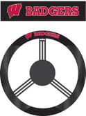 Wisconsin Badgers Poly-Suede Steering Wheel Cover
