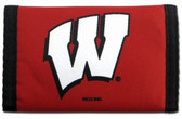 Wisconsin Badgers Nylon Trifold Wallet
