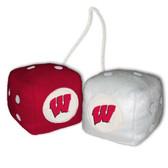 Wisconsin Badgers Fuzzy Dice