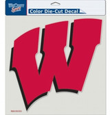"Wisconsin Badgers Die-Cut Decal - 8""x8"" Color"