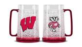 Wisconsin Badgers Crystal Freezer Mug