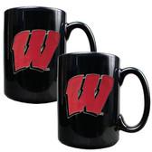 Wisconsin Badgers Coffee Mug Set