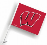 Wisconsin Badgers Car Flag