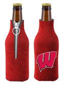 Wisconsin Badgers Bottle Suit Holder - Glitter
