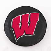 Wisconsin Badgers Black Tire Cover, Large TCBKWisconWLG