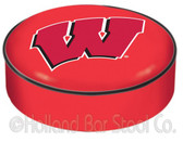 Wisconsin Badgers Bar Stool Seat Cover BSCWisc-W