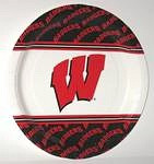 "Wisconsin Badgers 9"" Dinner Paper Plates"
