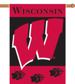 "Wisconsin Badgers 2-Sided 28"" x 40"" Banner w/ Pole Sleeve"