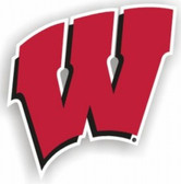 "Wisconsin Badgers 12"" Car Magnet"