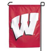 """Wisconsin Badgers 11""""x15"""" Garden Flag"""