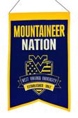 West Virginia Mountaineers Wool Nations Banner