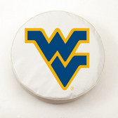 West Virginia Mountaineers White Tire Cover, Large
