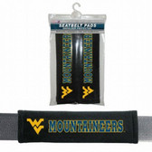 West Virginia Mountaineers Velour Seat Belt Pads
