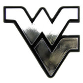 West Virginia Mountaineers Silver Auto Emblem