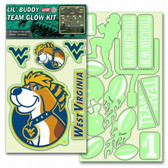 West Virginia Mountaineers Lil' Buddy Glow In The Dark Decal Kit