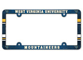 West Virginia Mountaineers License Plate Frame - Full Color