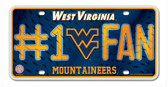 West Virginia Mountaineers License Plate - #1 Fan