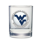 West Virginia Mountaineers Double Old Fashioned Glass Set