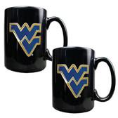 West Virginia Mountaineers 2pc Coffee Mug Set