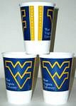 West Virginia Mountaineers 16 oz Cups