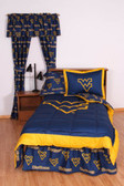 West Virginia Bed in a Bag Twin - With Team Colored Sheets