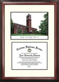 Washington State University Scholar Framed Lithograph with Diploma