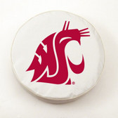 Washington State Cougars White Tire Cover, Large