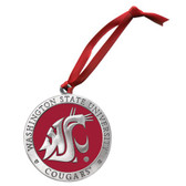Washington State Cougars Logo Ornament